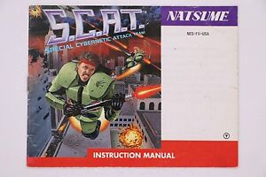 S-C-A-T-NES-Nintendo-Manual-Only