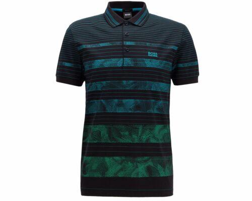 Paddy Hugo Boss 7 50419415 001 regular FIT Camisa Polo Para Hombre Top Negro