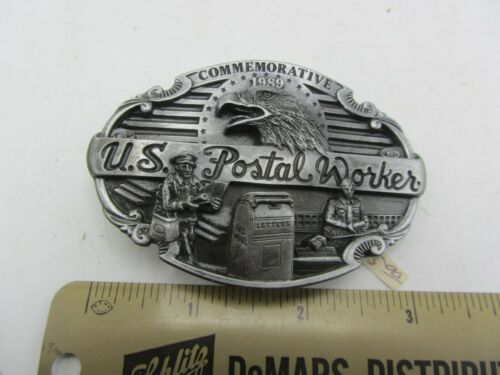 Brass United States Postal Service Commemorative USPS Mail Carrier Uspo US Mail Employee Gift Solid 1970s Vintage Belt Buckle