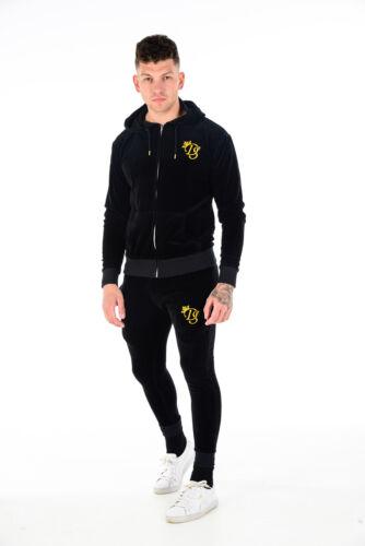 Herren Velour Reißverschluss Designer Enge Passform DS Trainingsanzug