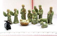 NOEL! 12 pc. Porcelain Christmas Nativity Set 100% HANDMADE