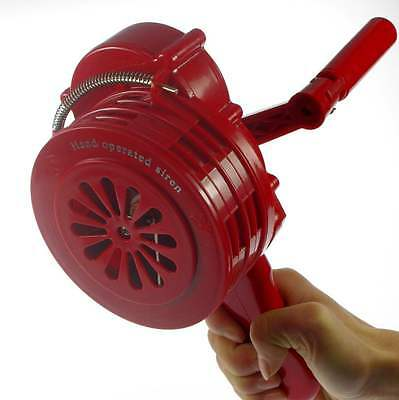mini Hand crank operated emergency alarm siren loud110db ABS Free shipping