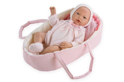 Lebensechte Puppe ALBA 38cm Reborn Babypuppe Sammlerpuppe Vinyl Spielzeug Kind