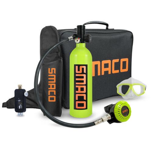Mini Scuba Diving Kit 15-20 Mins Breathing Underwater 1L Oxygen Tank SMACO S400