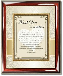 image is loading bride daughter thank you gift parents mom dad