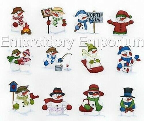 Colección De Muñecos De Nieve país-diseños de bordado de la máquina en CD o USB