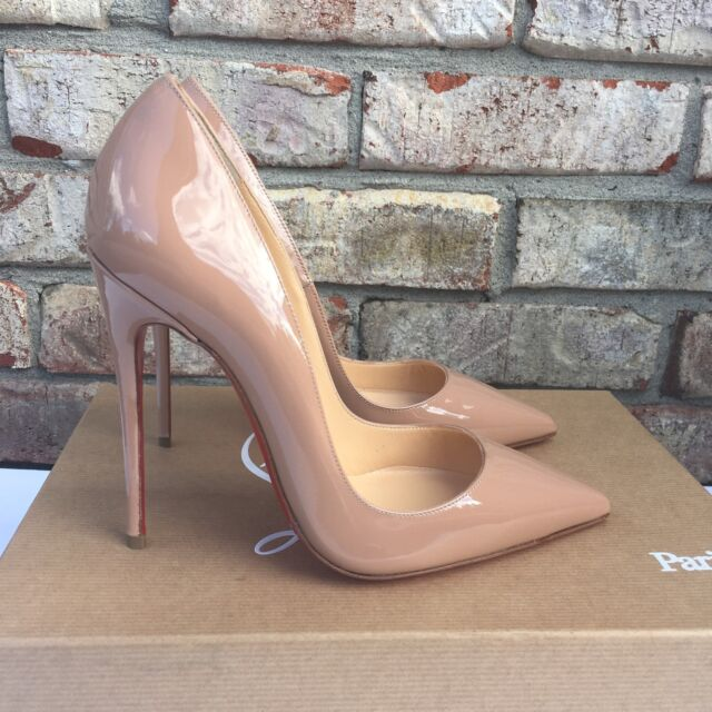 info for 12fea 78f03 Christian Louboutin so Kate Nude Patent Leather 120mm PUMPS 35.5