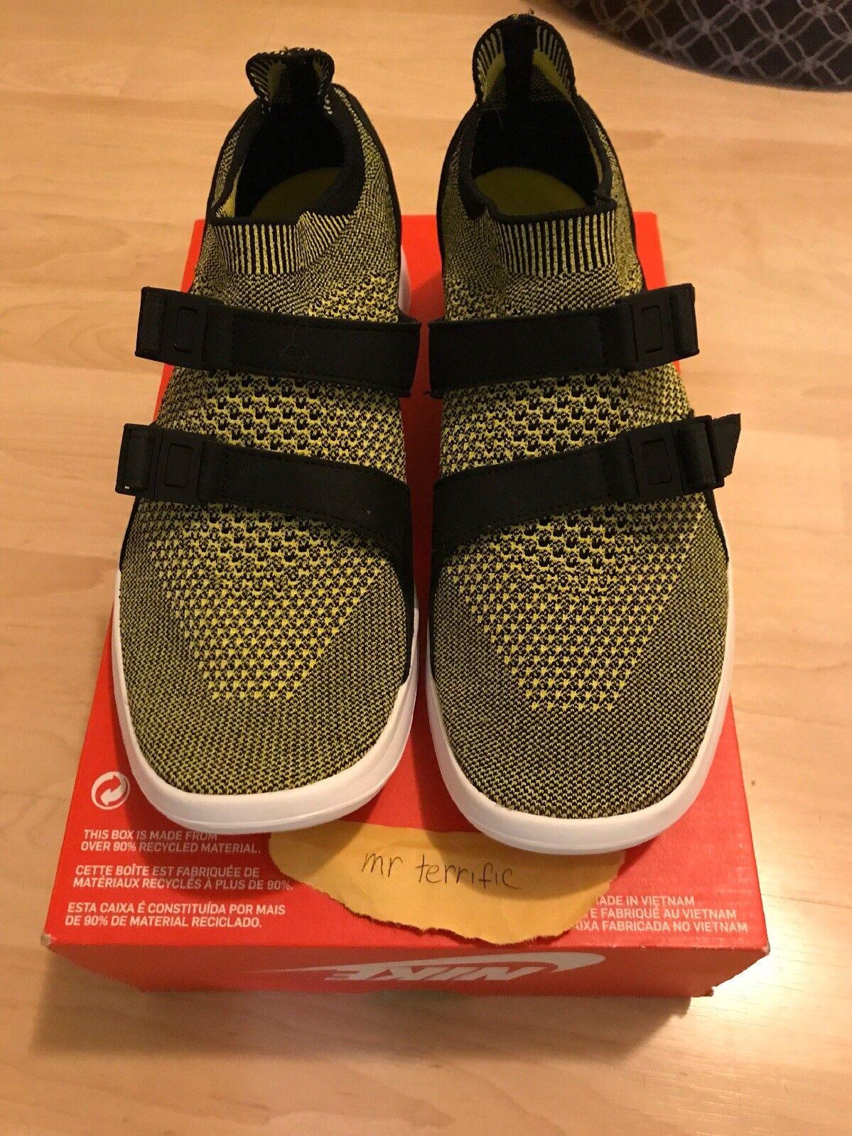 Nike Air Sock Racer Ultra Flyknit Yellow Strike Men Running 898022-700