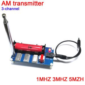 3-Channel-AM-Transmitter-1MHZ-3MHZ-5MHZ-Finished-board-Antenna-Cable