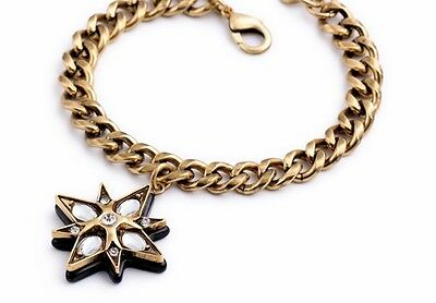 B399 Betsey Johnson Wedding Lucky Star Crystal Gem Jewellery Chain Bracelet AU