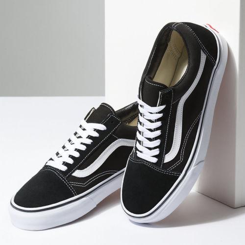 Skool Vans Negro Skate Antiguo Lona Ante Nuevo Clásico Las Todas Zapatos Hombre qTURxnfwS