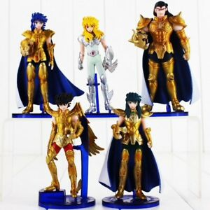 LOT-DE-5-FIGURINES-SAINT-SEIYA-LES-CHEVALIERS-DU-ZODIAQUE-ARMURE-OR