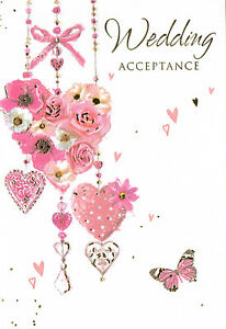 wedding invite acceptance card envelope 5 x 3 5 4 x cards to