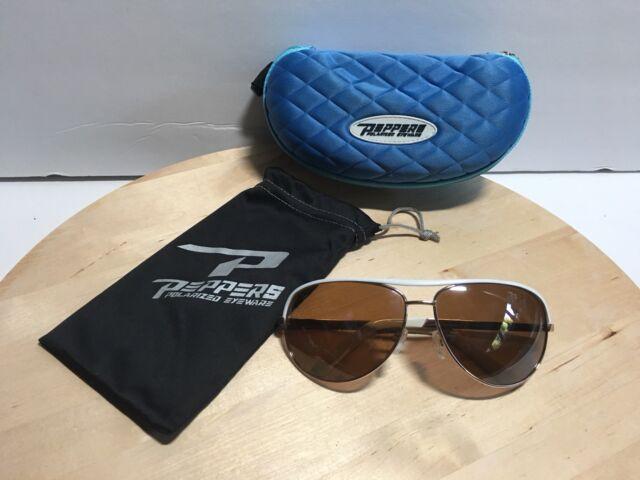 d75fadb007b Peppers Polarized Sunglasses LP400-0 Pitt Boss 64 W  Silk Bag And Hard Case