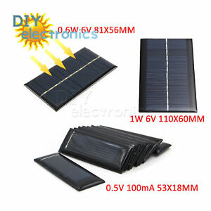 Active Components Alert Mini 6v 1w Solar Panel Bank Solar Power Panel Module Diy Power For Light Battery Cell Phone Toy Chargers Portable