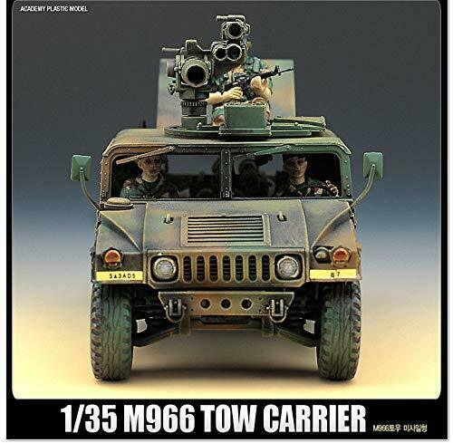 Academy 1//35 M966 Hummer With Tow 13250 Plastic Model Kit