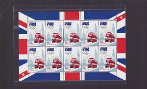 2012-Road-to-London-Sheetlet-of-10-x-60-Australian-Stamps-double-decker-bus
