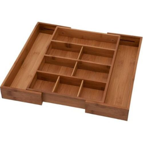 Utensils or Junk Drawer NEW Bamboo Kitchen Drawer Organizers for Cutlery