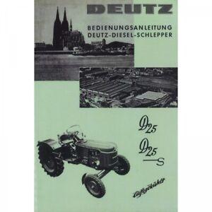 Deutz-D25-D25S-luftgekuehlt-Diesel-Schlepper-Traktor-Bedienungsanleitung