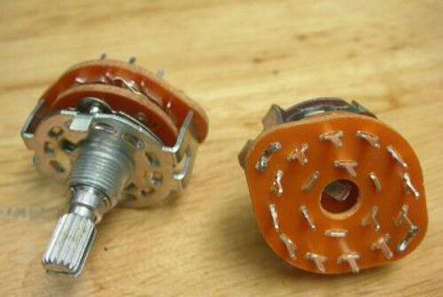 """1pcs Rotary Switch 3 Pole 4 Position 3P4T Potentiometer FOR 1//4/"""" Shaft Turn Knob"""