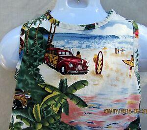 Image is loading Bishop-St-Hawaiian-Dress-Aloha-Size-6X-Beach- & Bishop St. Hawaiian Dress Aloha Size 6X Beach Surfing Woodie Classic ...