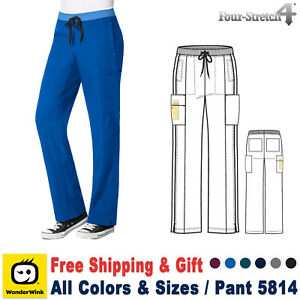 b961978d1ad WonderWink Scrubs 4 STRETCH Women's Bottom Straight Leg Pant_5814 | eBay