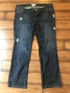 4c67dba87ca1c Liz Lange Maternity Jeans Size 8 Straight Leg Adjustable Waist Under ...