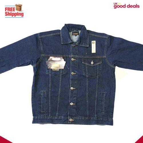 Mens Denim Jeans Jacket Casual Workwear Coat Western Style Trucker Jackets