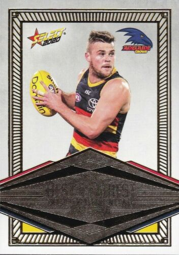 2020 AFL SELECT FOOTY STARS BEST /& FAIREST CARD BRAD CROUCH ADELAIDE CROWS BF1