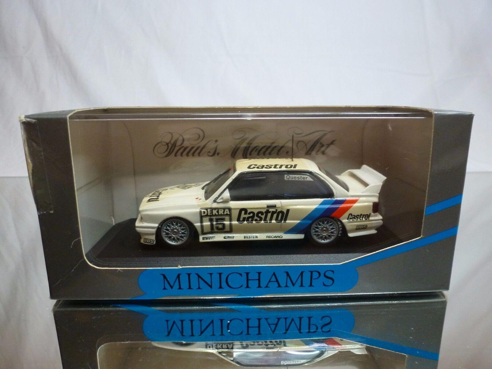 Minichamps m3 e30 - linder castrol - sport - evo quester 1 43 selten - in - box