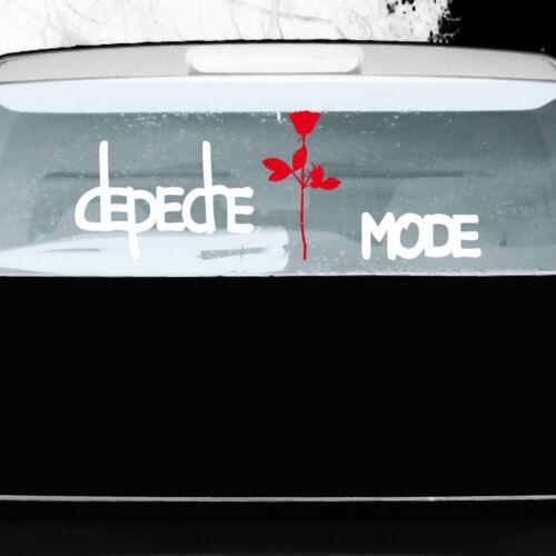 Rose 20cm Aufkleber Auto Tattoo Folie Set M Depeche Mode Exciter Schriftzug