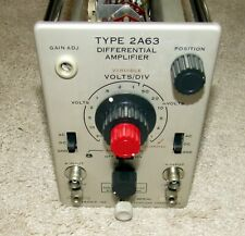 Functional Tektronix Type 2a63 Differential Amplifier Plug In For 560 Series