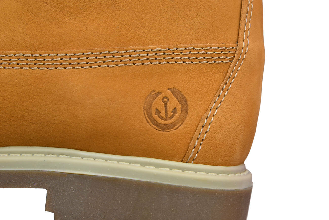 MADSea Damen und Herren Leder Schnürstiefel Street Street Street Stiefel Classic in maisgelb 971232