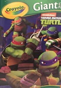 Teenage Mutant Ninja Turtles Crayola 18 Giant Coloring Pages 12 3/4 ...