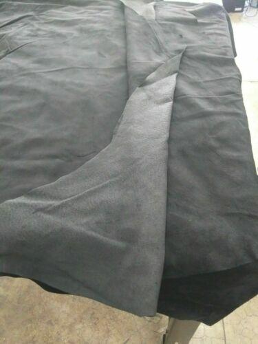 1 oz. Italian Quality Pig Suede Pigskin Hide leather skin Black 10 Sq.Ft