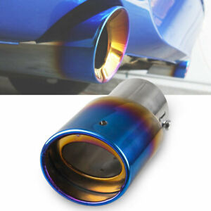 Universal 3in Stainless Steel Exhaust Tip Pipe Auto Car Modification Accessory Qii lu Exhaust Tip