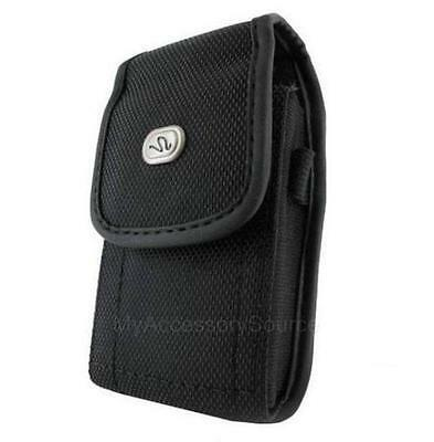 Heavy Duty Canvas Nylon Vertical Case Pouch Belt Clip Carrying Holster Iphone
