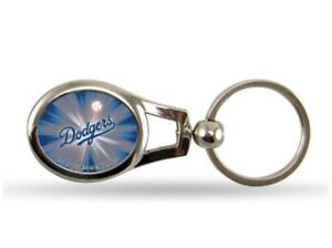 Brand-New-Los-Angeles-Dodgers-Oval-Keychain-Metal-MLB