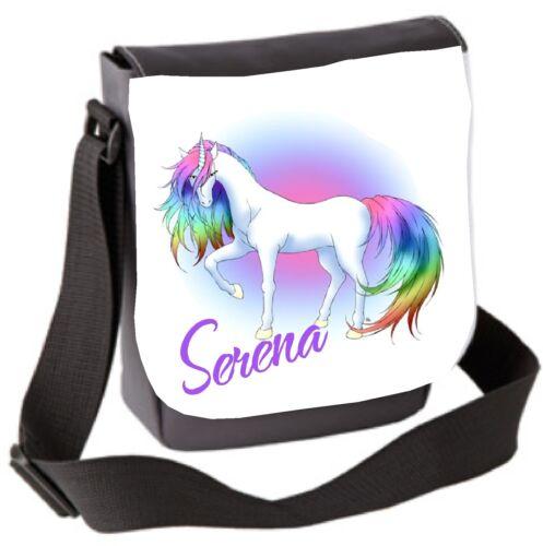 Hand Bag Great Christmas Gift Rainbow Unicorn Bag Personalised Small Sholder