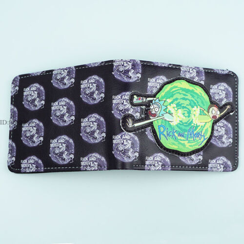 Cartoon Rick and Morty Wallet Short Bifold 3D LOGO Purse Coin Bag Gift New