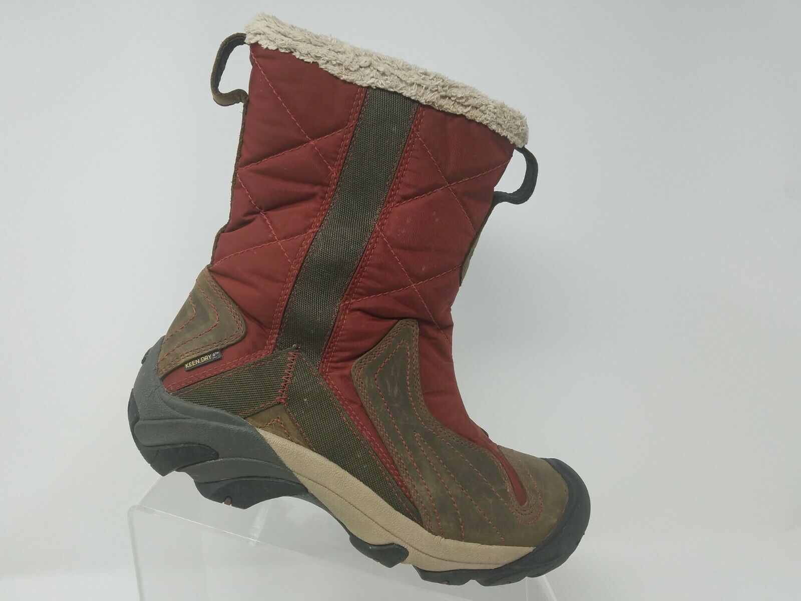 Keen Womens Water Proof Snow Boot Size 7.5 Red Keen Dry Zip Up