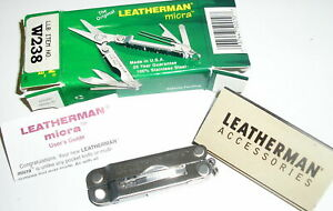 Leatherman micra Stainless Steel Multi Tool Scissors Knife Screwdriver+ NEW NIB