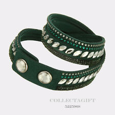 "Authentic Swarovski Green Slake Pulse Bracelet 14 1/8"" 5225968"