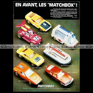 MATCHBOX-Lesney-MB51-CITROEN-SM-MB11-FLYING-BUG-1972-Pub-Publicite-Ad-A915