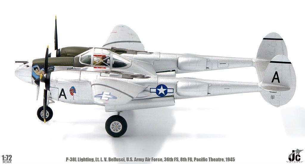 Jc Wings JCW-72-P38-001, JCW-72-P38-001, JCW-72-P38-001, P-38L Iluminación, LT L V Bellusci, de la Fuerza Aérea del Ejército de Estados Unidos 345c1f