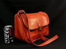 Vintage Coach Rambler Bonnie Cashin New York 60s Tomato Red Leather Shoulder Bag