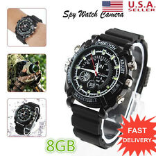 NEW 1080P Spy Hidden Camera DVR Watch Cam IR Night Vision Waterproof 8GB Mini BP