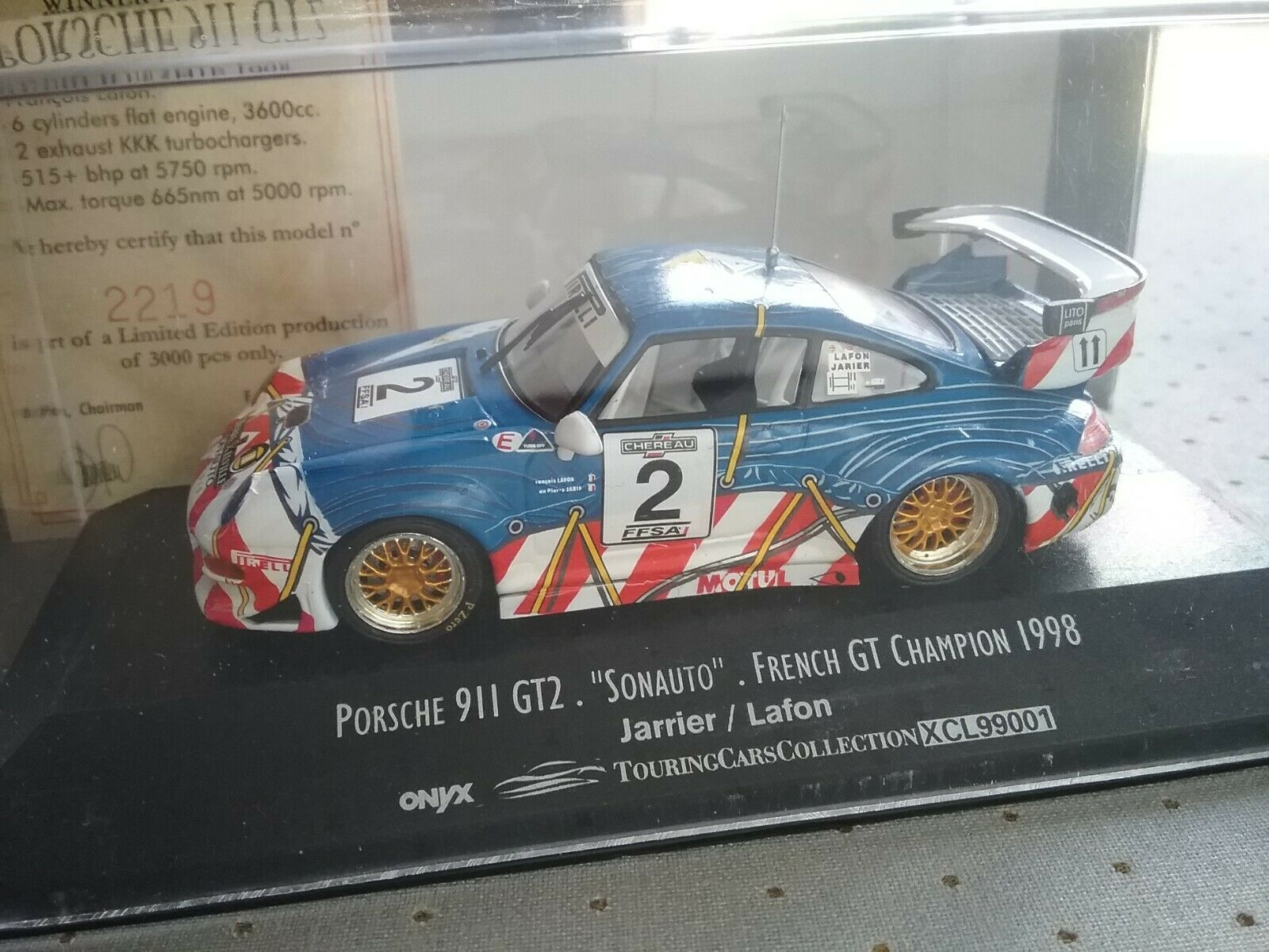 PORSCHE 911 GT2  SONAUTO  1 43  2 ONYX