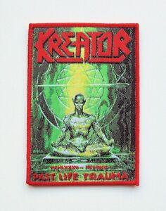KREATOR-red-Woven-Patch-Destruction-Sodom-Morbid-Saint-Protector
