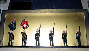Blenheim Plomb 54 Mm Toy Soldiers Royal Marines Color Party 090